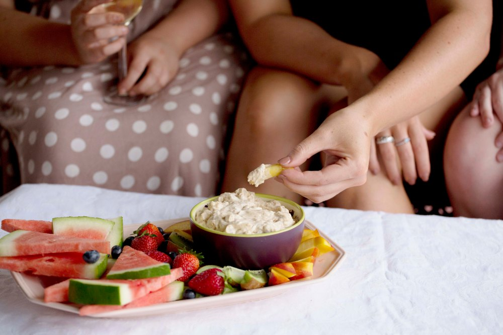 Fruit dip recipe, a dietitian and a photographer
